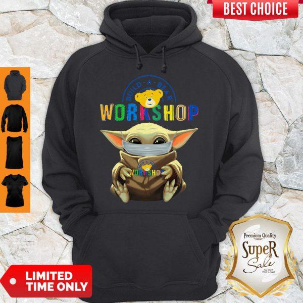 Premium Baby Yoda Hug Build A Bear Workshop Mask Hoodie