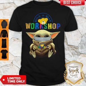 Premium Baby Yoda Hug Build A Bear Workshop Mask T-Shirt