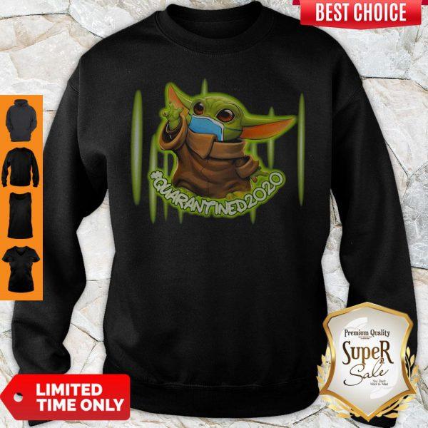 Premium Baby Yoda Quarantined 2020 Mask Sweatshirt