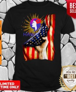 Premium Hawaiian Airlines Logo American Flag Independence Day T-Shirt