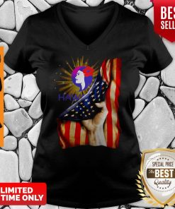 Premium Hawaiian Airlines Logo American Flag Independence Day V-neck