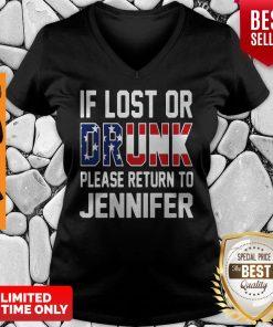 Premium Lost Or Drunk Please Return To Jennifer V-neck