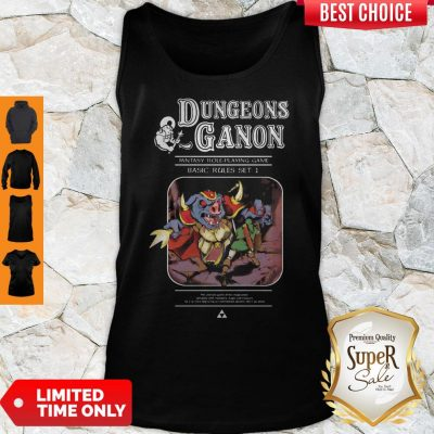Pretty Dungeons Ganon Fantasy Role Playing Game Basic Rules Set Tank Top
