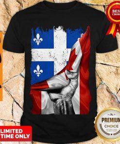 Pretty Quebec Canada Flag Shirt