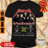 Funny Metallica 40th Anniversary Thank You For The Memories Signatures Shirt