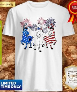 Top Donkey 2 Flag Happy American Independence Day Shirt