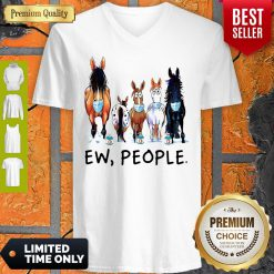 Top Horse Face Mask Ew People V-neck
