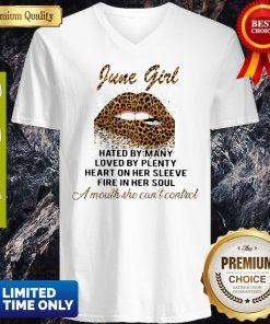 Premium June Girl Hated By Many Loved By Plenty V-neck