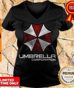 Premium Resident Evil Umbrella Corporation V-neck