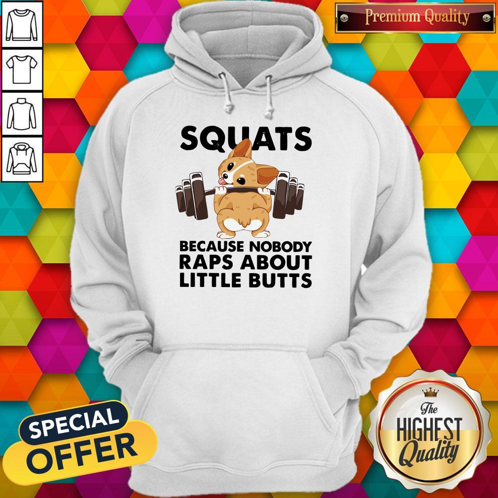 Funny Corgi Squats Because Nobody Raps About Little Butts Hoodie