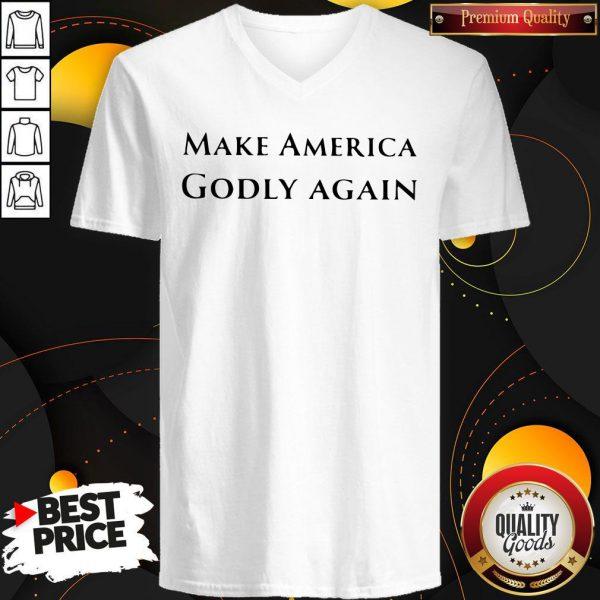 Funny Official Make America Godly Again V-neck
