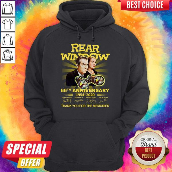 Funny Rear Window 66th Anniversary 1954 2020 Thank You For The Memories Signatures Hoodie