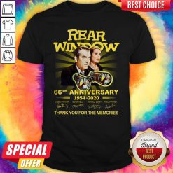 Funny Rear Window 66th Anniversary 1954 2020 Thank You For The Memories Signatures Shirt