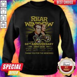 Funny Rear Window 66th Anniversary 1954 2020 Thank You For The Memories Signatures Sweatshirt