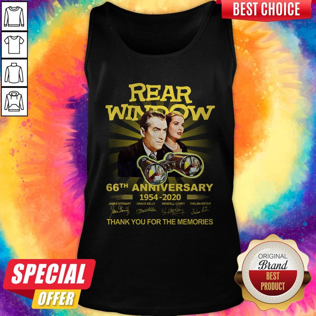 Funny Rear Window 66th Anniversary 1954 2020 Thank You For The Memories Signatures Tank Top