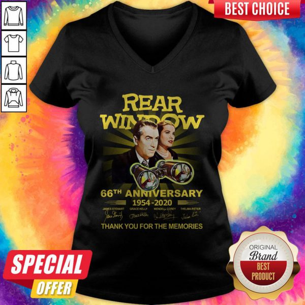 Funny Rear Window 66th Anniversary 1954 2020 Thank You For The Memories Signatures V-neck
