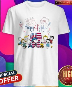 Funny The Peanuts Happy 4th Of July American Flag Shirt