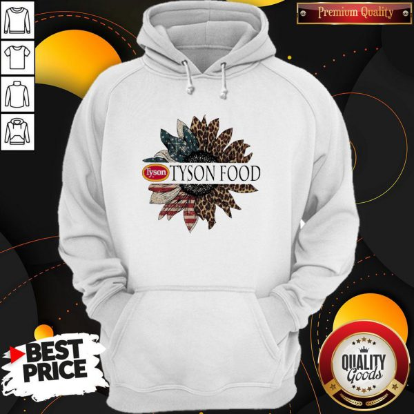 Funny Tyson Food The 4th Of July Sunflower American Flag Hoodie