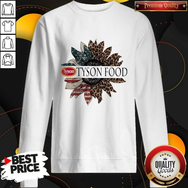 Funny Tyson Food The 4th Of July Sunflower American Flag Sweatshirt