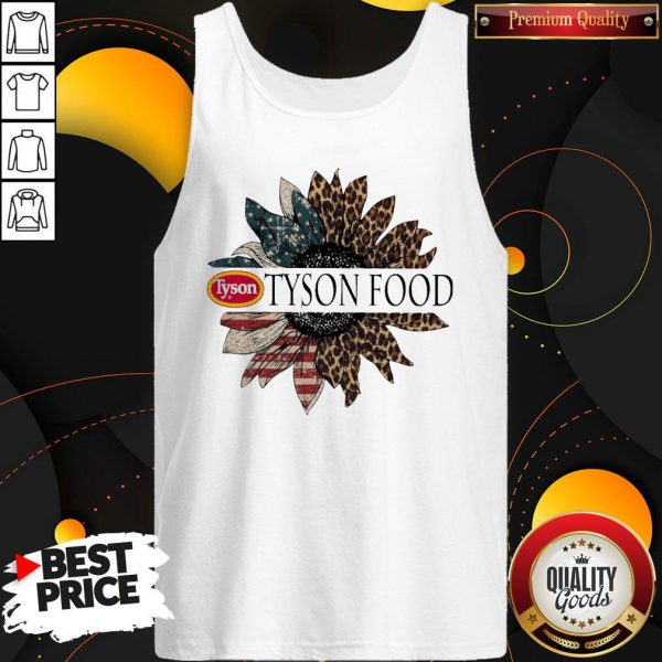 Funny Tyson Food The 4th Of July Sunflower American Flag Tank Top