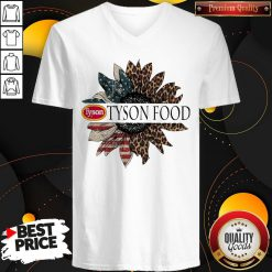 Funny Tyson Food The 4th Of July Sunflower American Flag V-neck