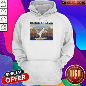 Nice Bahama Llama Dancing Vintage Hoodie