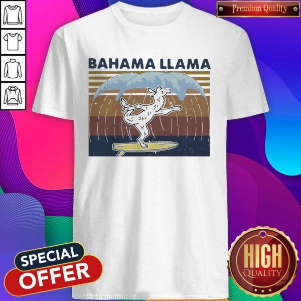 Nice Bahama Llama Dancing Vintage Shirt