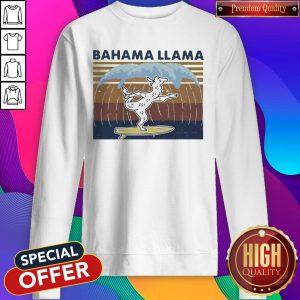 Nice Bahama Llama Dancing Vintage Sweatshirt
