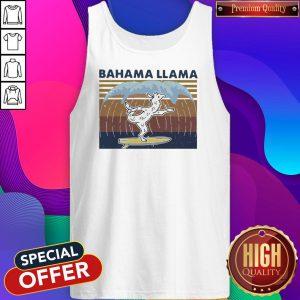 Nice Bahama Llama Dancing Vintage Tank Top