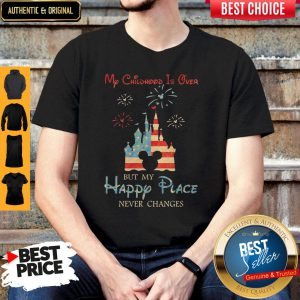 Nice Disney Mickey My Childhood Is Over But My Happy Place Never Changes Shirt