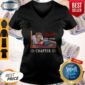 Nice Just One More Chapter Girl Reading Book V-neck