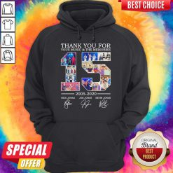 Nice Thank You For Your Music And The Memories 2005 2020 Signatures Hoodie