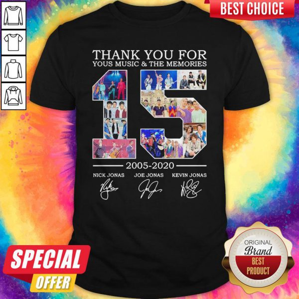 Nice Thank You For Your Music And The Memories 2005 2020 Signatures Shirt