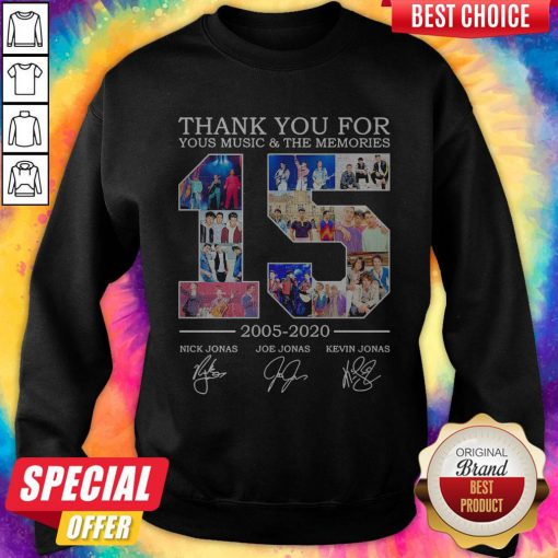 Nice Thank You For Your Music And The Memories 2005 2020 Signatures Sweatshirt