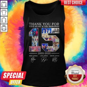 Nice Thank You For Your Music And The Memories 2005 2020 Signatures Tank Top