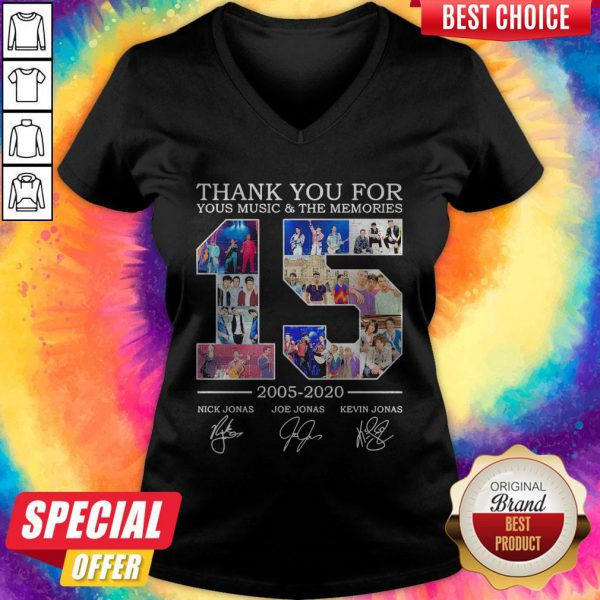 Nice Thank You For Your Music And The Memories 2005 2020 Signatures V-neck