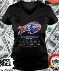 Nice The Bills 60th Anniversary 1960 2020 Thank You For The Memories V-neck