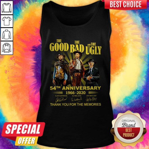 Nice The Good The Bad And The Ugly 54th Anniversary 1966 2020 Thank You For The Memories Signatures Tank Top