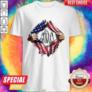 Official American Flag Veteran Independence Day Bartender Hand Shirt