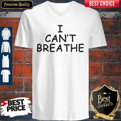 Official George Floyd I Cant Breathe V-neck