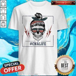 Official Skull #Cnalife American Flag Shirt