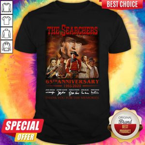 Official The Searchers 65th Anniversary 1955 2020 Thank You For The Memories Signatures Shirt