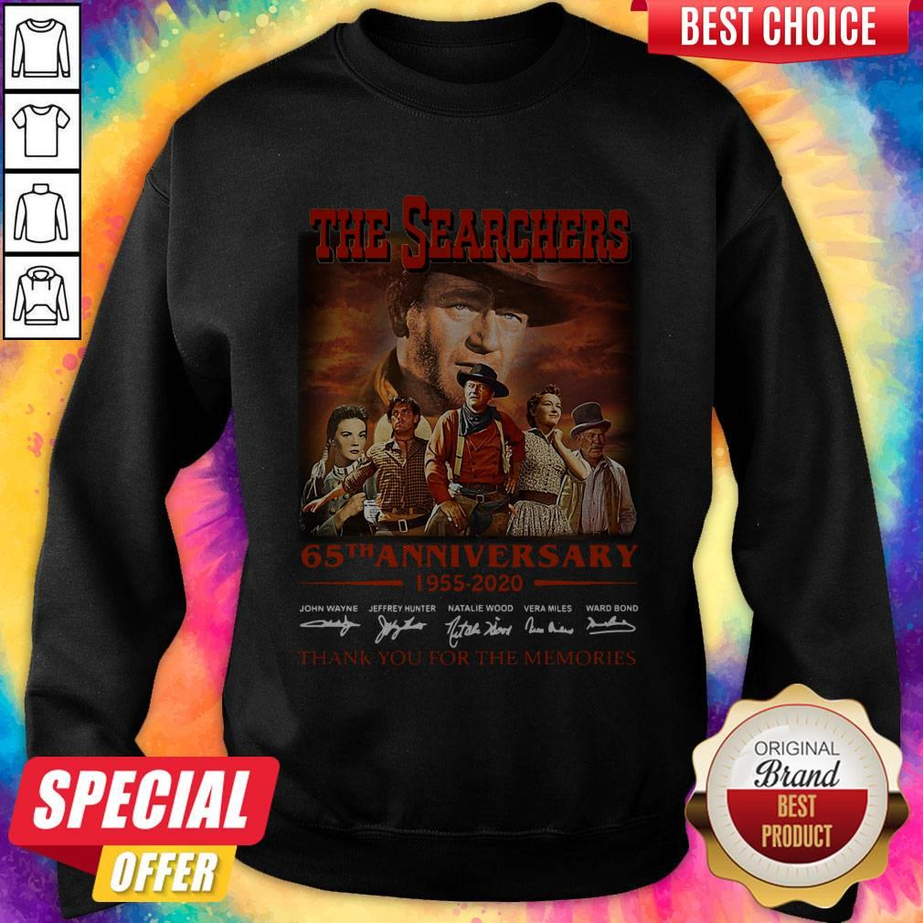 Official The Searchers 65th Anniversary 1955 2020 Thank You For The Memories Signatures Sweatshirt