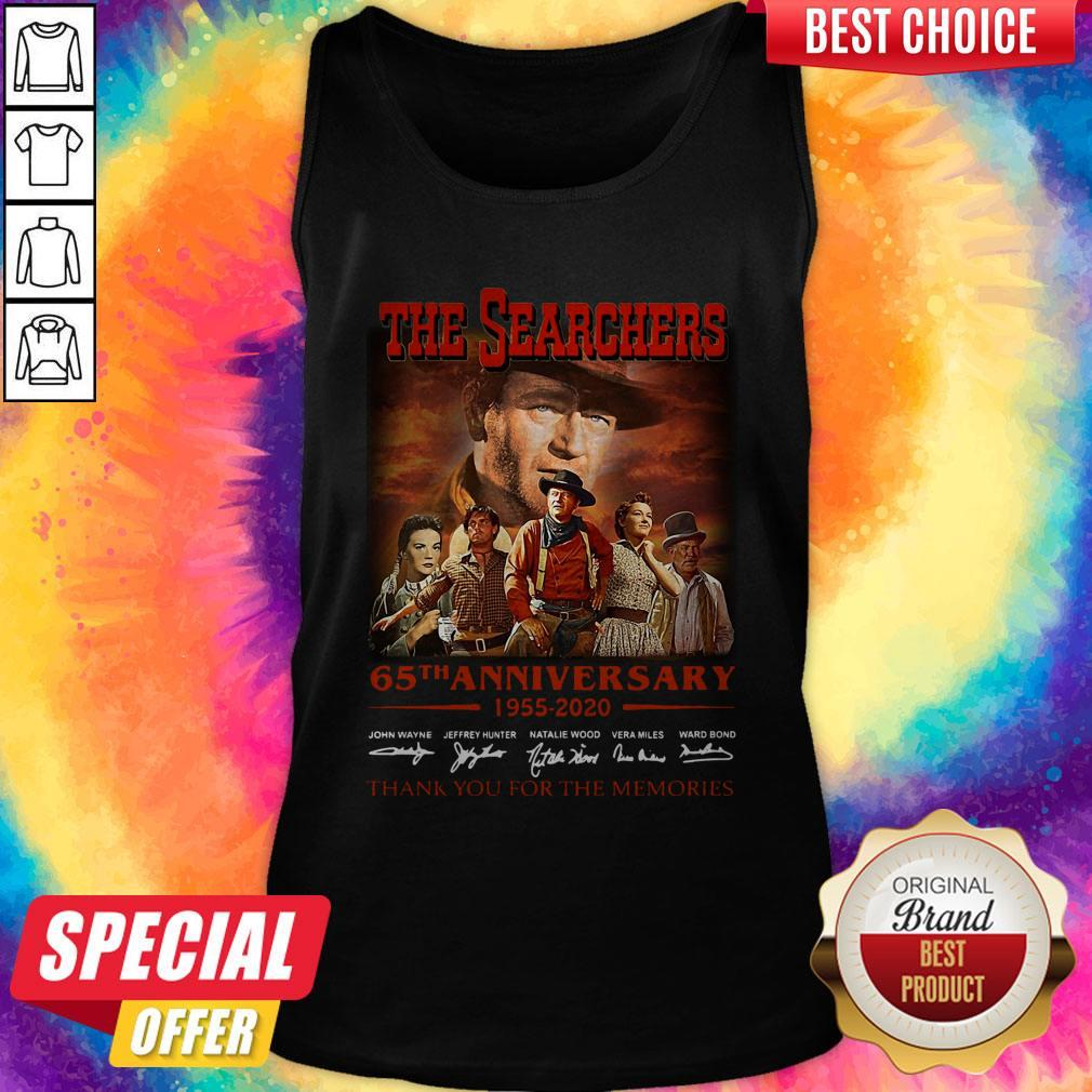 Official The Searchers 65th Anniversary 1955 2020 Thank You For The Memories Signatures Tank Top