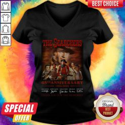 Official The Searchers 65th Anniversary 1955 2020 Thank You For The Memories Signatures V-neck