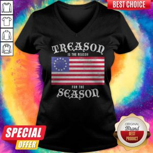 Official Treason Is The Reason For The Season American Flag V-neck