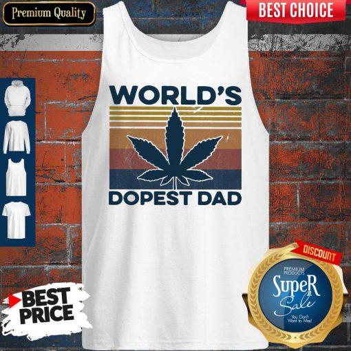 Official Weed World's Dopest Dad Vintage ShirtOfficial Weed World's Dopest Dad Vintage Tank Top