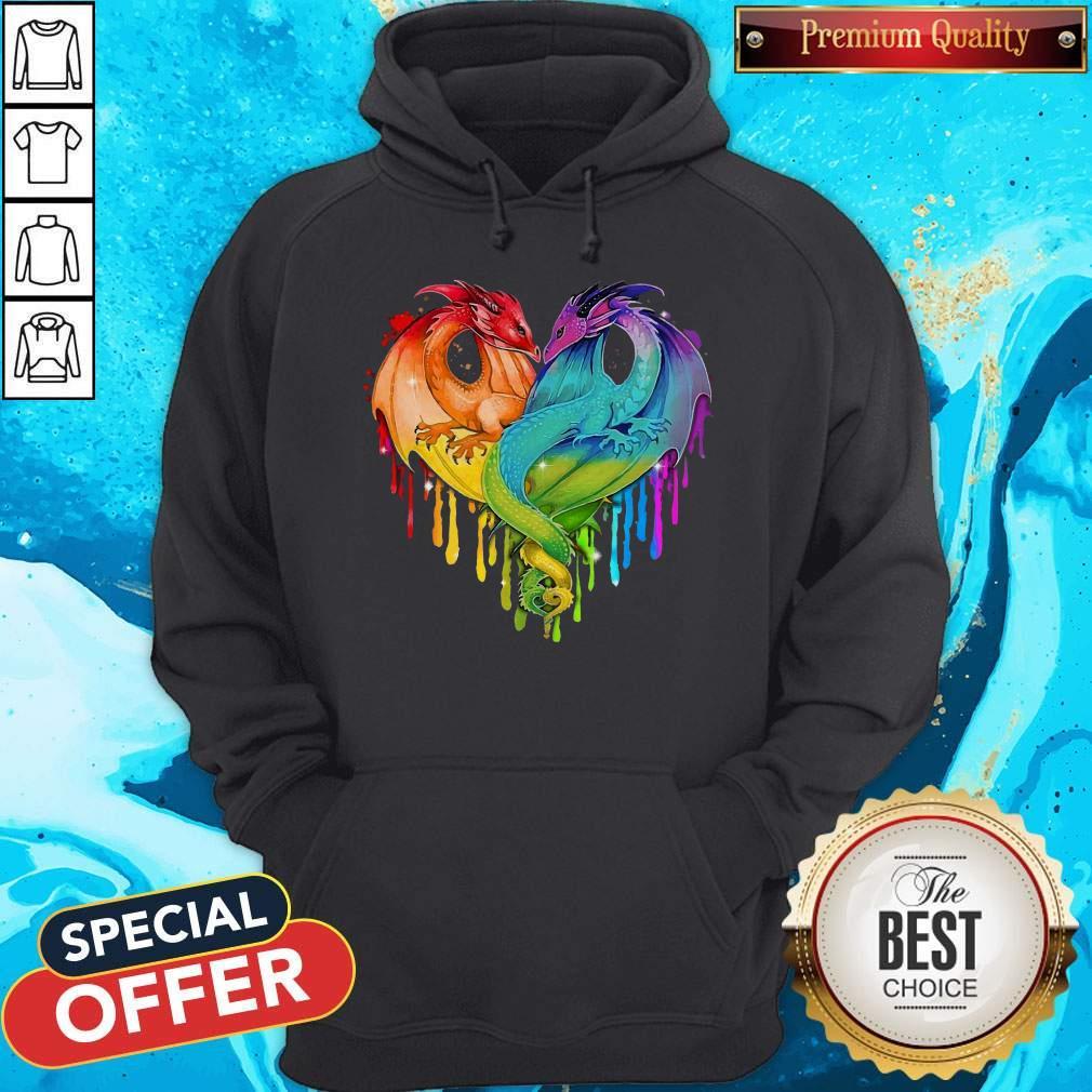 Premium Lgbt Dragons Heart Hoodie