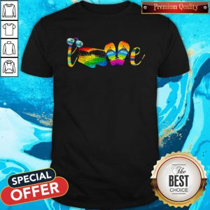 Premium Lgbt Love Sign Language Camping Shirt