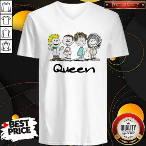 Premium Nice Queen Band Peanuts Snoopy And Friends V-neck